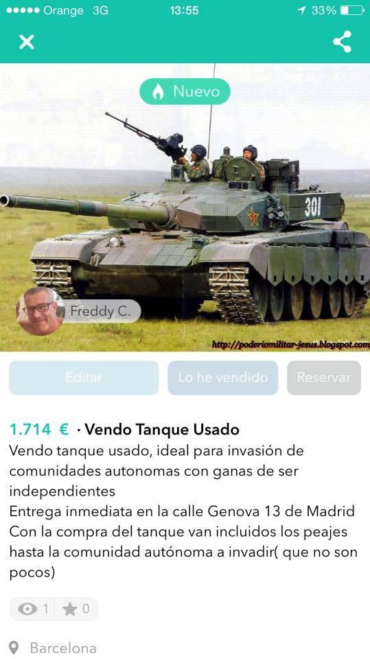 Vendo tanque usado