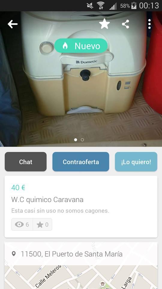WC químico caravana