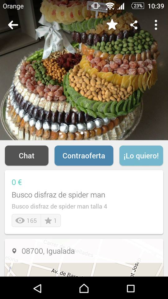 Busco disfraz de spiderman