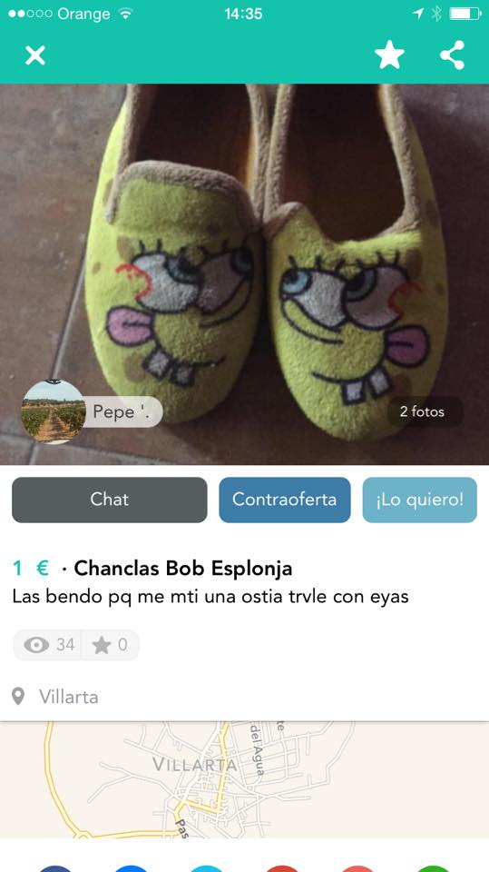 Chanclas Bob Esponja