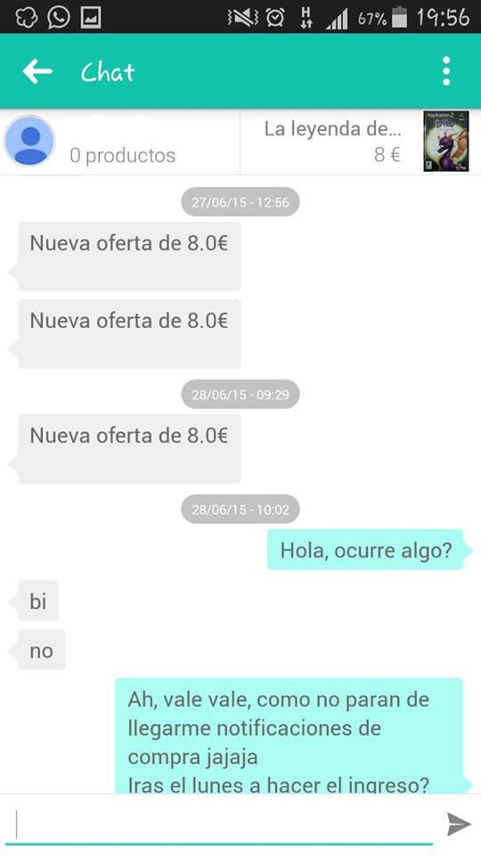 Chat nueva oferta de 8€ 1