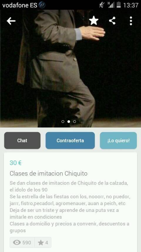 Clases de imitación Chiquito
