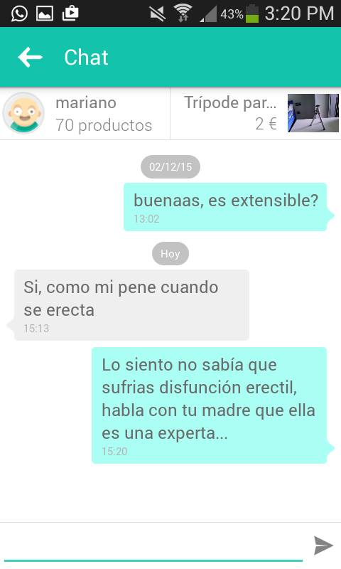 Chat Mariano trípode extensible pene