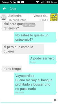 Chat Lo vendo todo unicornio 2