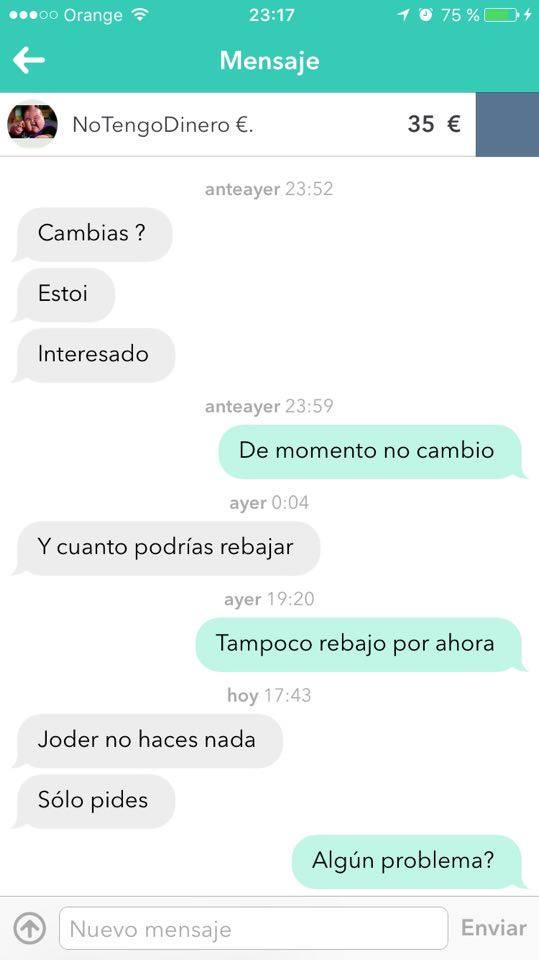 Chat no tengo dinero 1