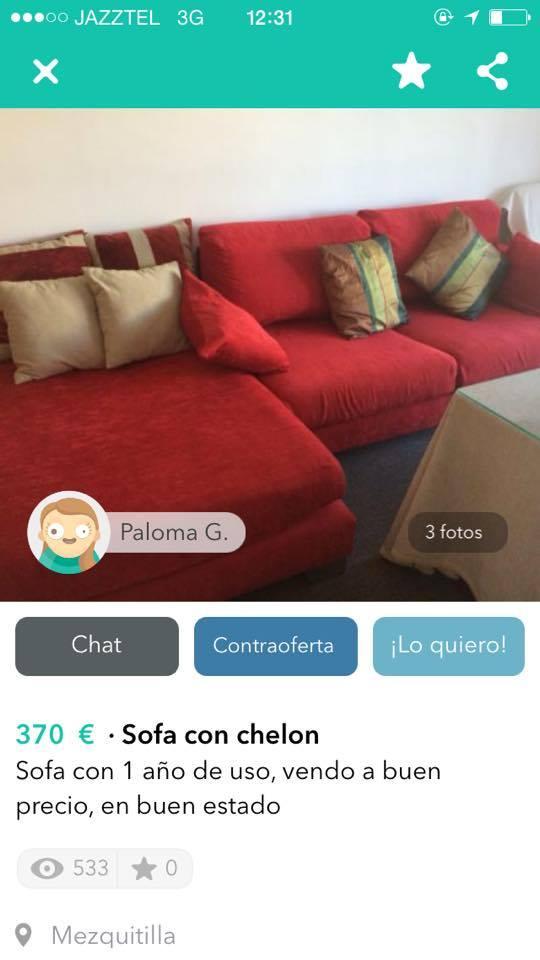 Sofa con chelon