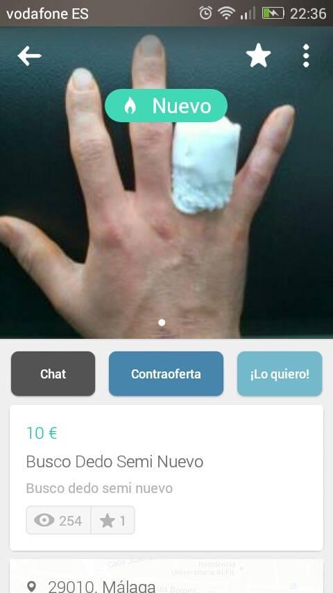 Busco dedo semi nuevo
