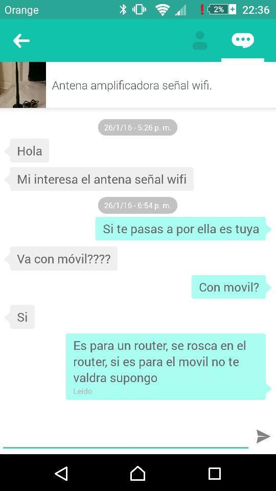 Chat antena amplificadora señal wifi