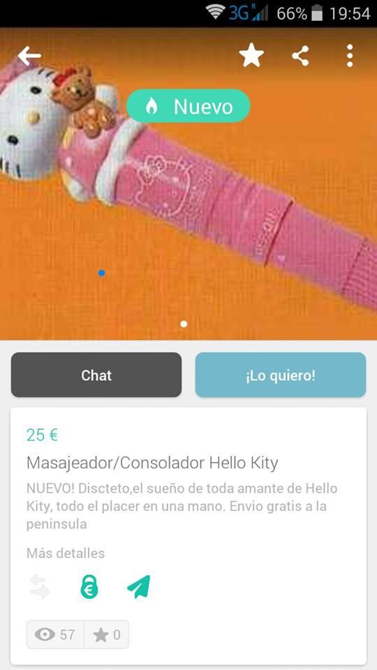 Masajeador consolador Hello Kitty
