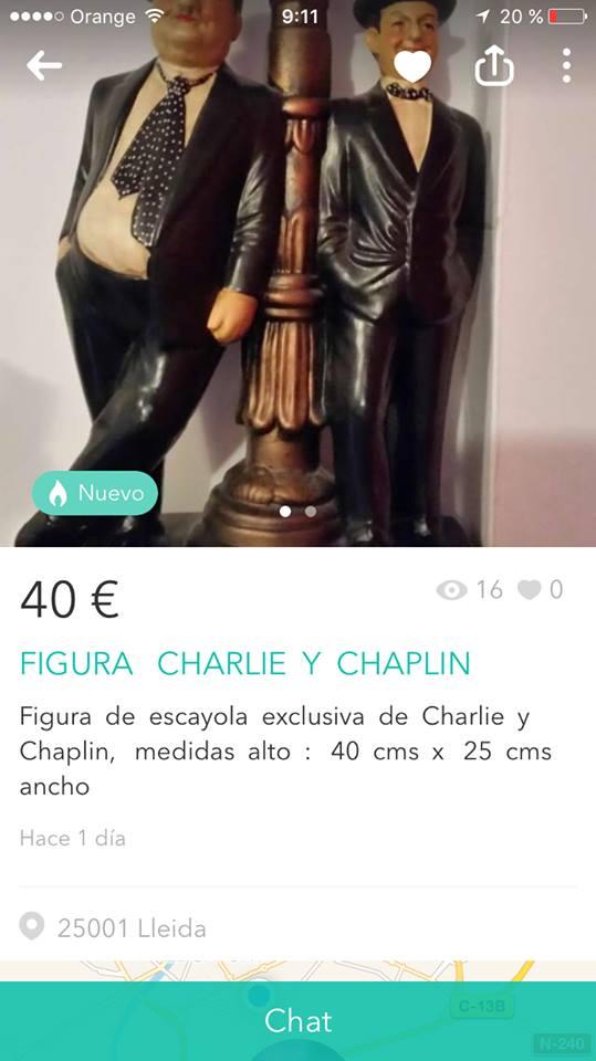 Figura Charlie y Chaplin 2