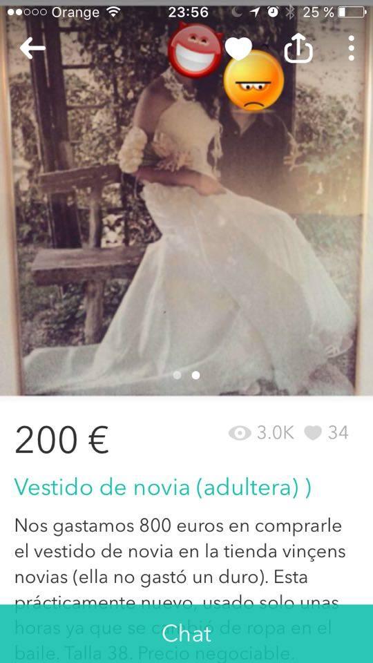 Vestido de novia adúltera 1