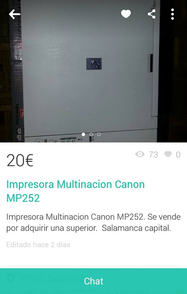 Impresora multinación