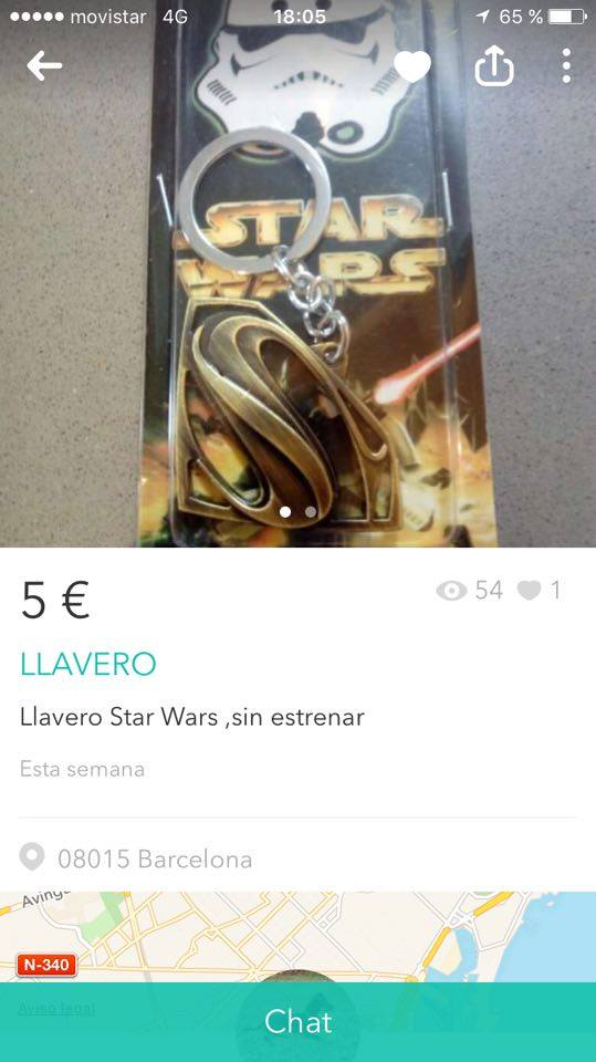 Llavero star wars