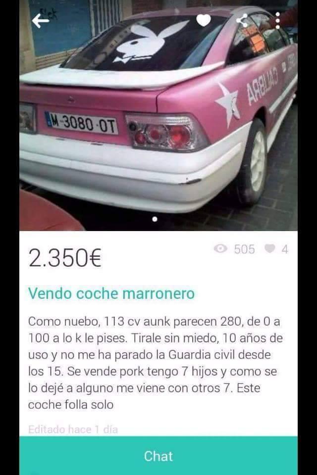 vendo-coche-marronero