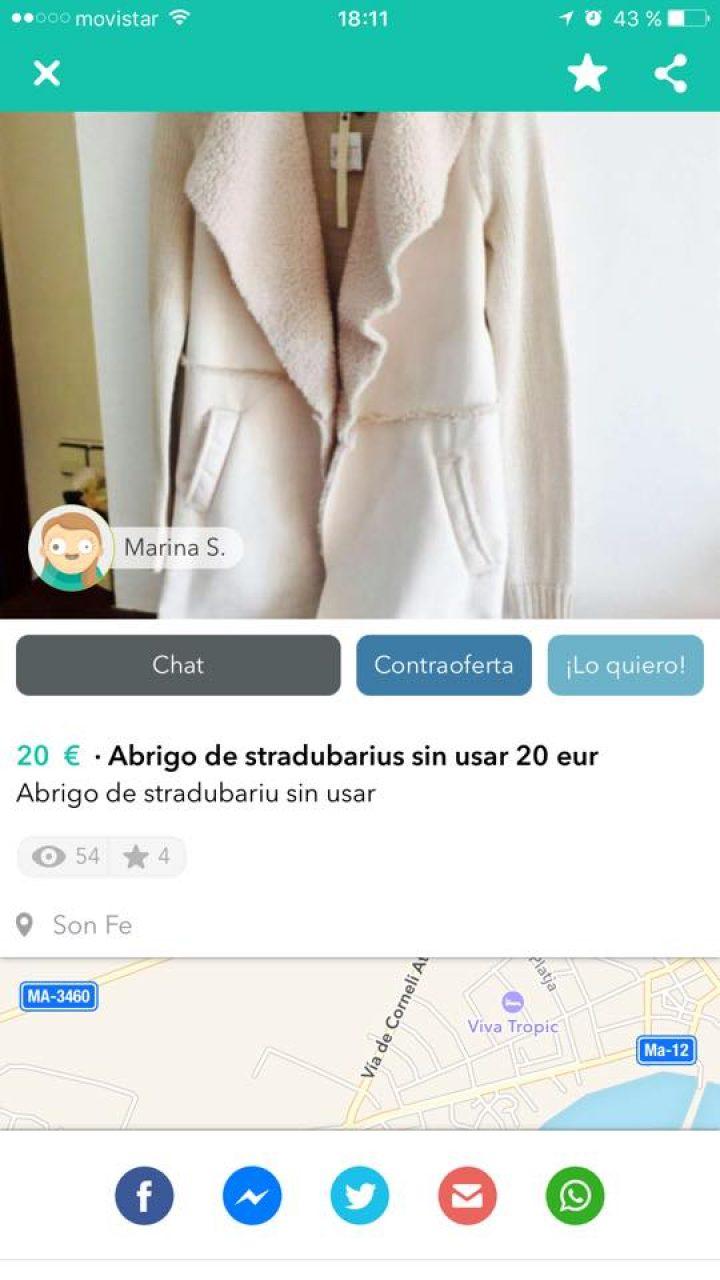 """ABRIGO DE """"STRADUBARIUS"""""""