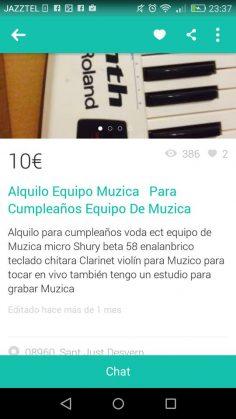 """ALQUILO EQUIPO """"MUZICA"""""""