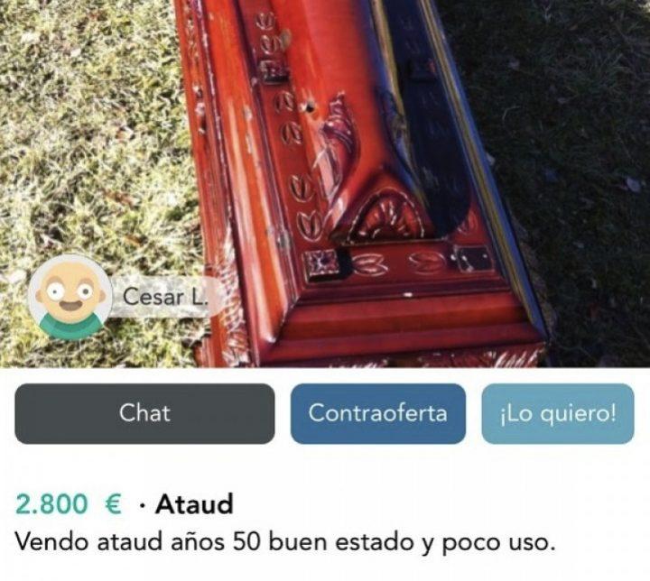 ATAÚD AÑOS 50