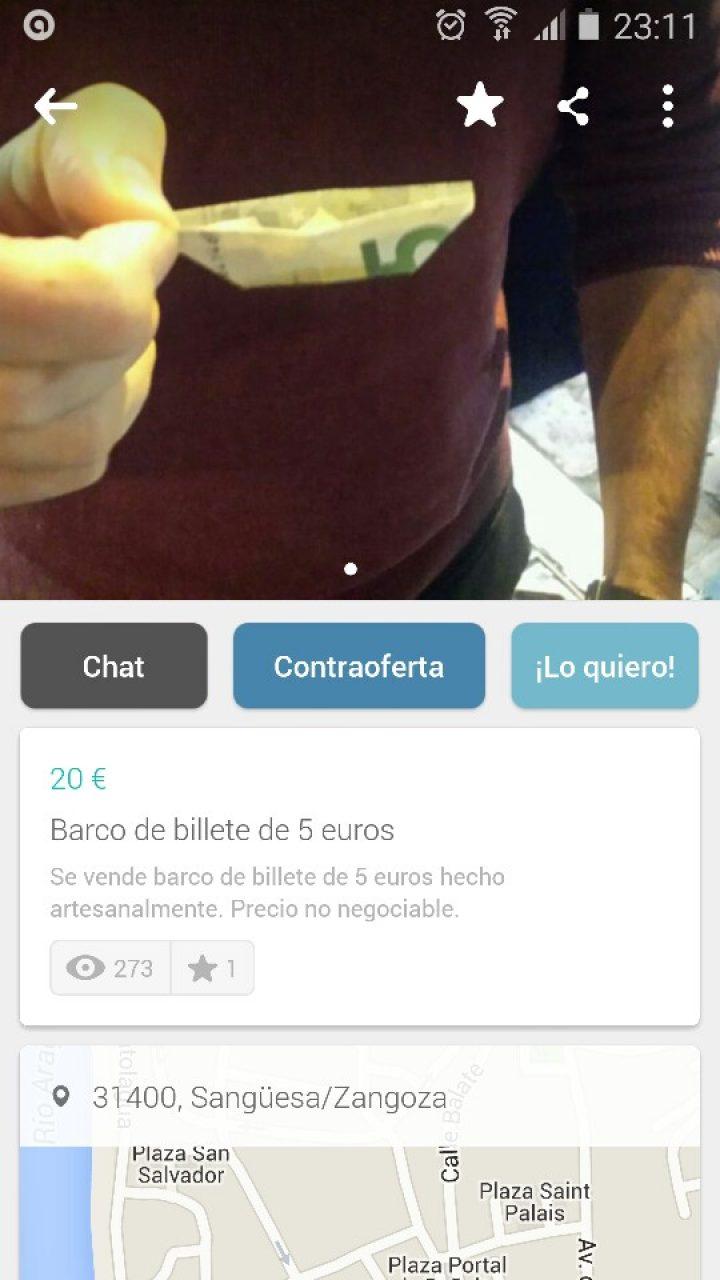 BARCO DE BILLETE DE 5€