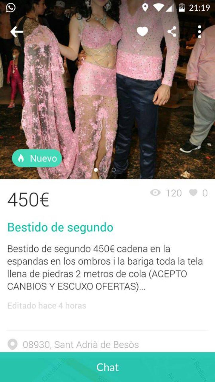 BESTIDO DE SEGUNDO