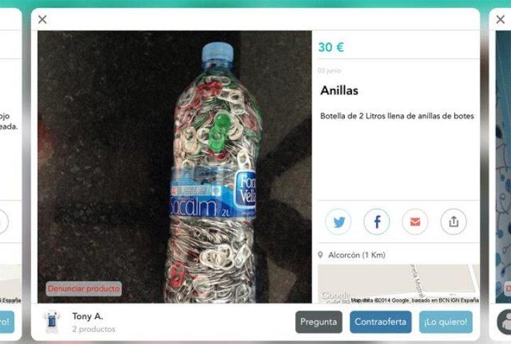 BOTELLA DE ANILLAS