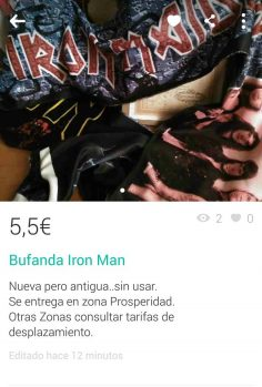 BUFANDA IRON MAN