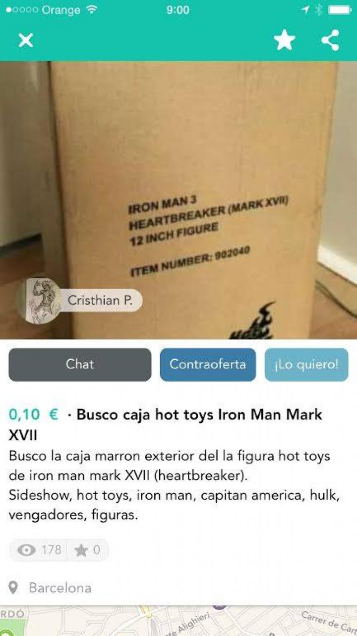 BUSCO CAJA HOT TOYS IRON MAN