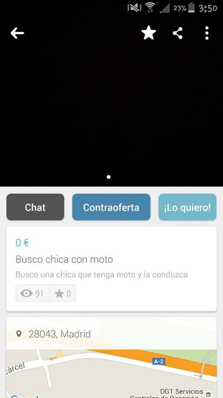 BUSCO CHICA CON MOTO