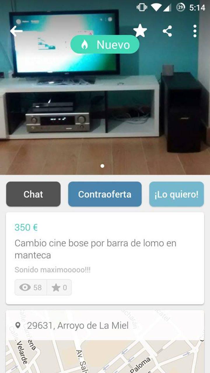 CAMBIO CINE BOSE POR BARRA DE LOMO EN MANTECA