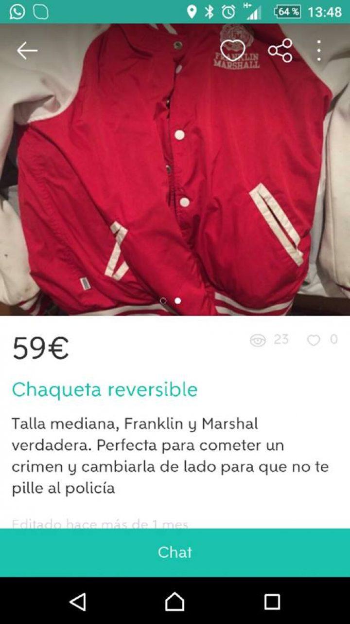 CHAQUETA REVERSIBLE