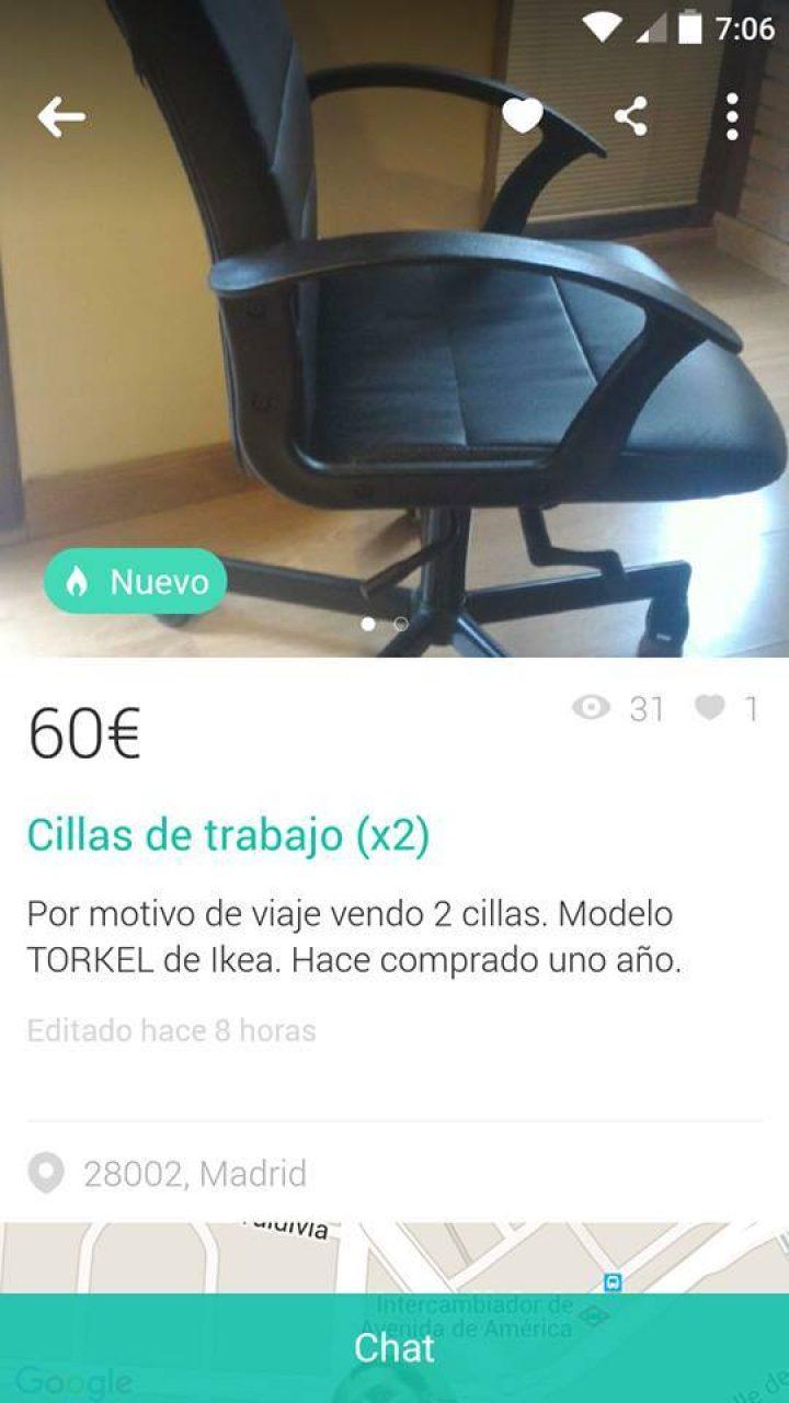 """""""CILLAS"""" DE TRABAJO"""
