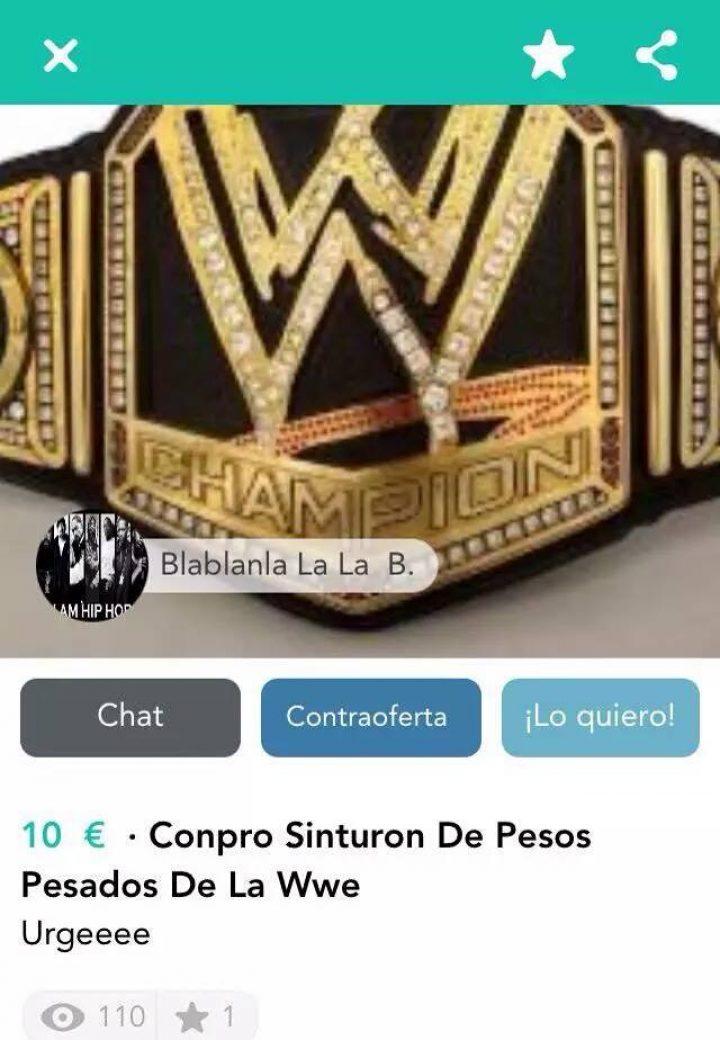 COMPRO SINTURON DE PESOS PESADOS