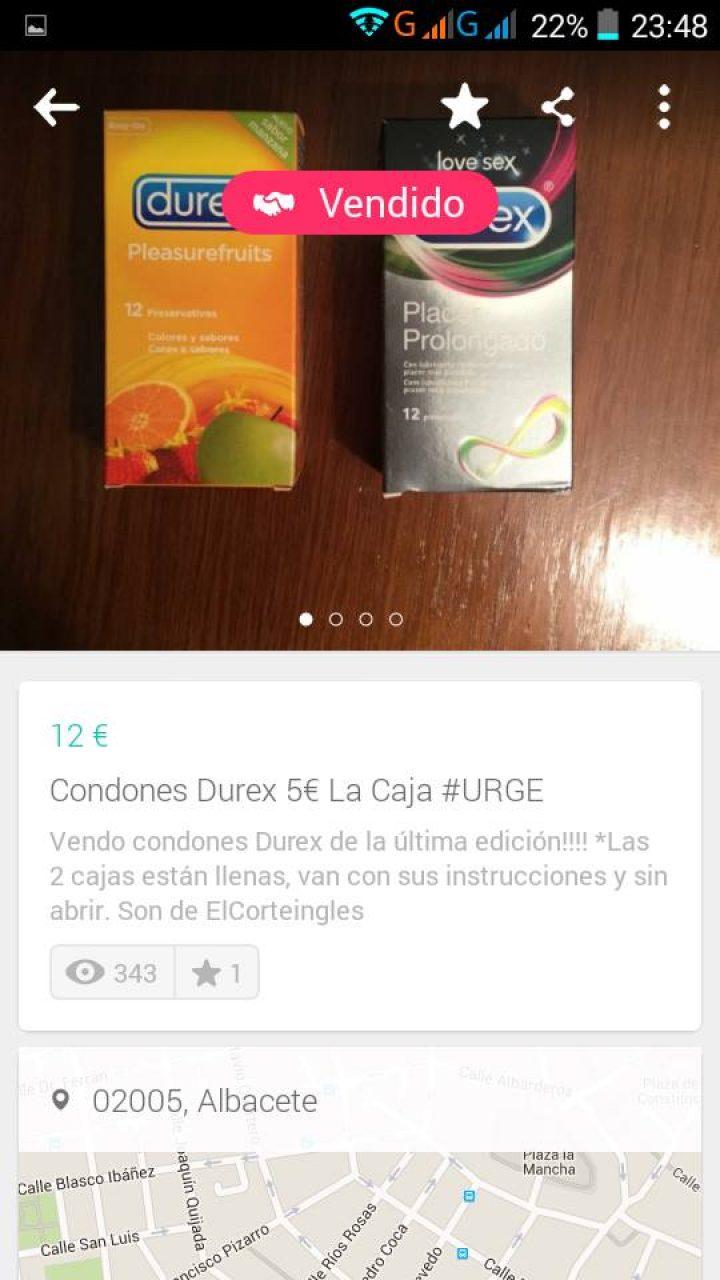 CONDONES DUREX 5 EUROS LA CAJA