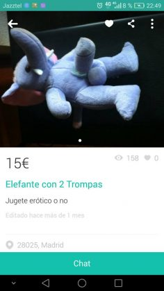 ELEFANTE CON DOS TROMPAS