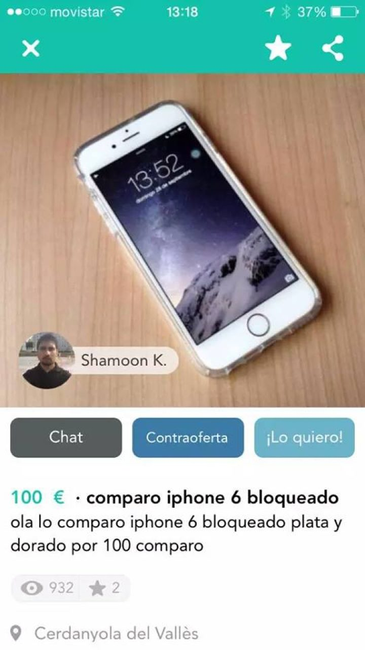 COMPARO IPHONE 6