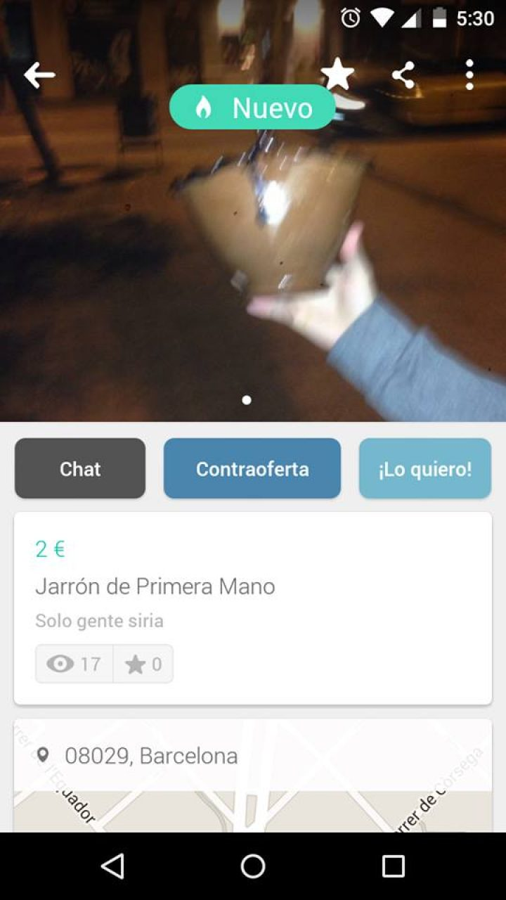 JARRÓN DE PRIMERA MANO
