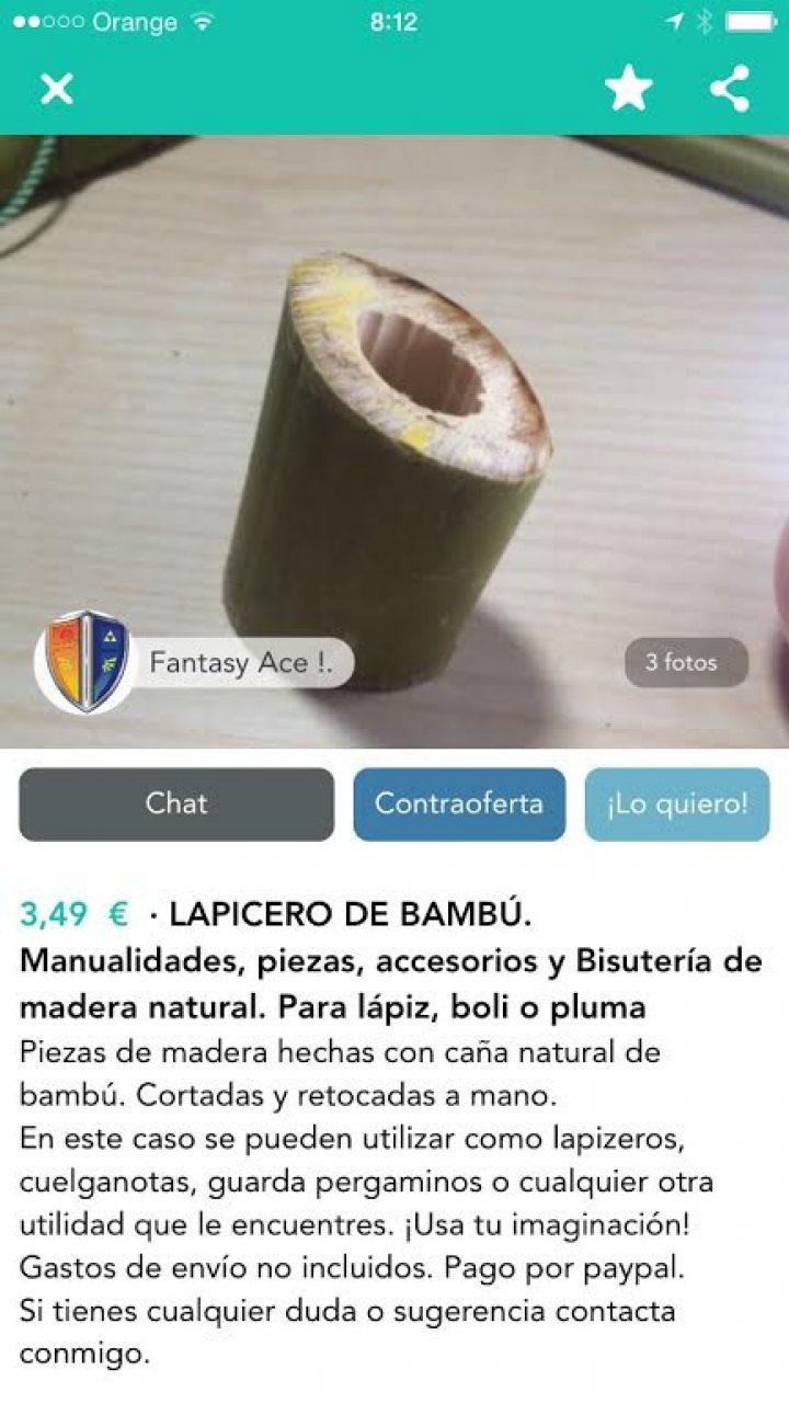 LAPICERO DE BAMBÚ