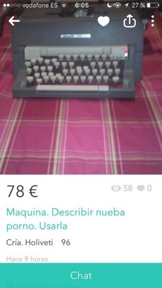 """MAQUINA DESCRIBIR PORNO"""