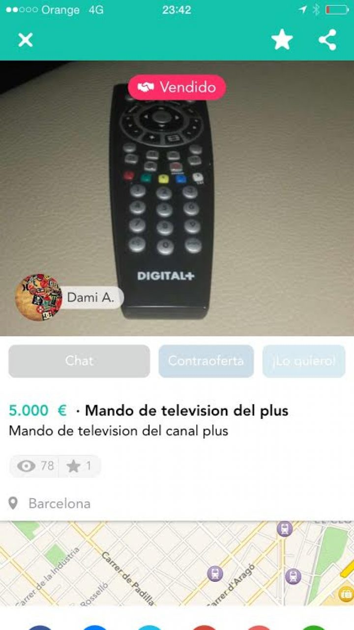 MANDO DE TV DEL PLUS
