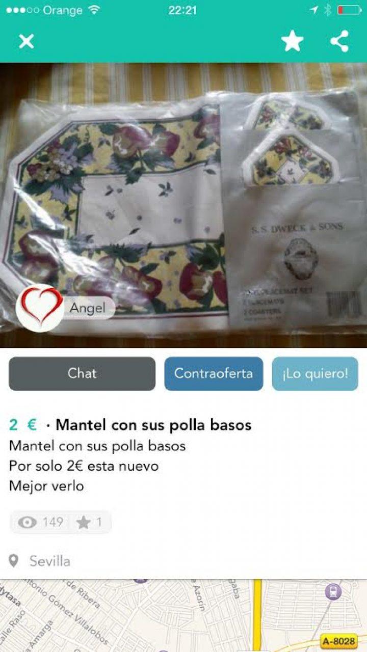 """MANTEL CON SUS """"POLLA BASOS"""""""
