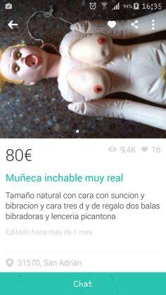 "MUÑECA ""INCHABLE"" MUY REAL"