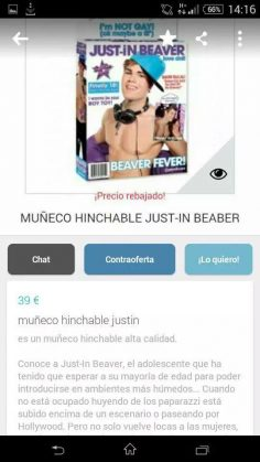 MUÑECO HINCHABLE JUST-IN BEABER