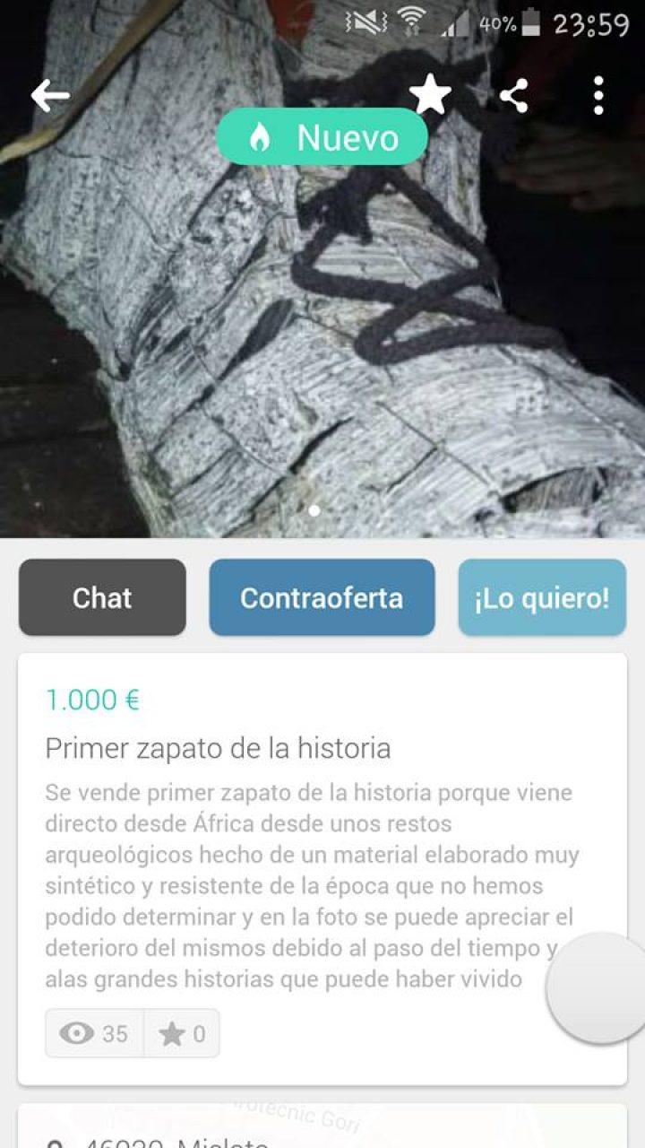 PRIMER ZAPATO DE LA HISTORIA