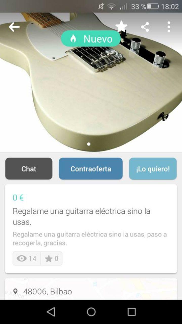 REGALAME UNA GUITARRA ELECTRICA SI NO LA USAS