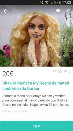 SHAKIRA MUÑECA