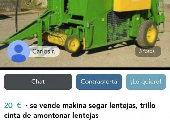 MÁQUINA SEGAR LENTEJAS
