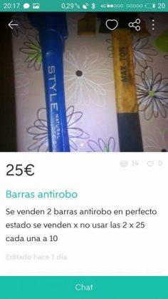 BARRAS ANTIROBO