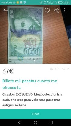 BILLETE MIL PESETAS