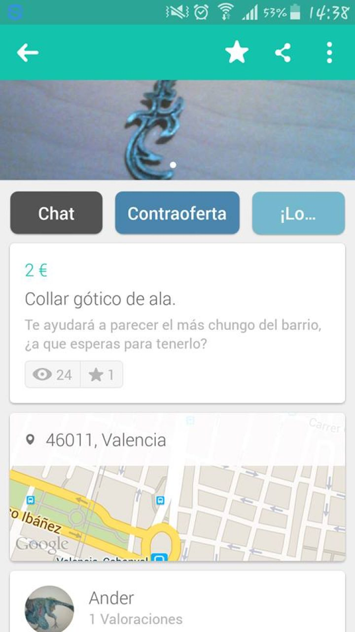 COLLAR GÓTICO DE ALA