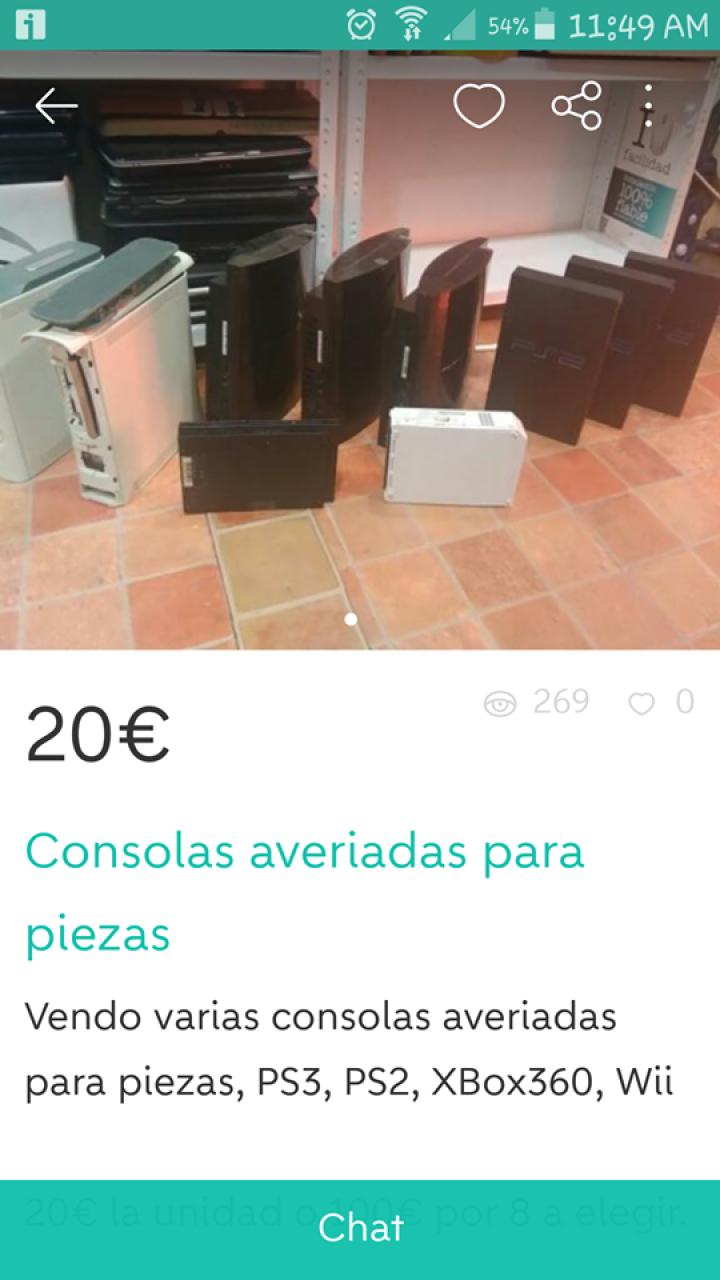 CONSOLAS AVERIADAS