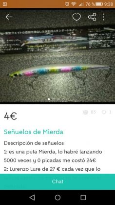 SEÑUELOS DE MIERDA